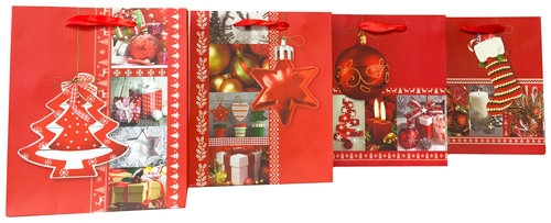 Torebka Lux Hot-Stamp Czerwona Kolaż A5 12 sztuk