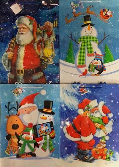 Torebka ozdobna brokat Boże Narodzenie PL-9Br mix