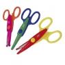 Nożyczki szkolne z wzorkami 13 cm 24 sztuki mix kolorów