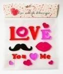 Naklejki żelowe - Love You&Me
