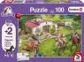 Puzzle 100 Schleich Przejażdżka konno + 2 figurki