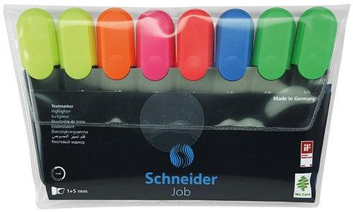 Zestaw zakreślaczy Schneider Job 1-5 mm 8 sztuk miks kolorów