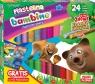 Plastelina Bambino, 24 kolory - podkładka GRATIS