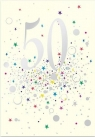 Karnet B6 z kopertą Urodziny 50
