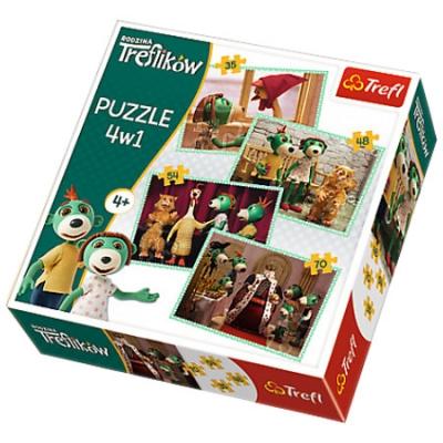 Puzzle 4w1 Nowi przyjaciele