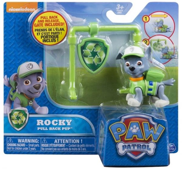 Psi Patrol, figurka z odznaką Rocky (6022626)