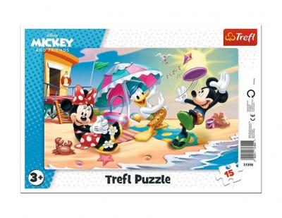 Puzzle 15el ramkowe Zabawy na plaży