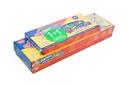 Farby plakatowe 12 kolorów 20 ml + plastelina gratis Colorino Kids