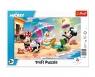Puzzle ramkowe 15: Mickey - Zabawy na plaży (31390)
