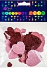 Naklejki z pianki serca brokat 30szt