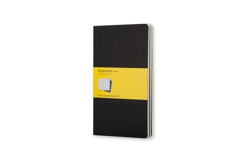 Zestaw 3 zeszytów Moleskine Cahier Journals P w kratkę