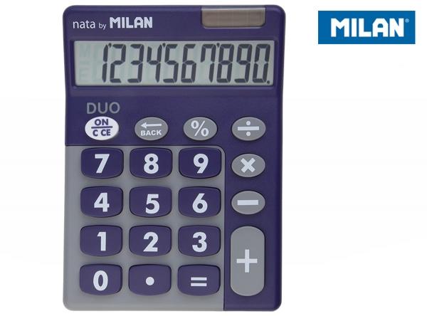 Kalkulator z dużymi klawiszami Milan Duo - Fioletowy (150610TDPRBL)