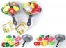 Owoce i warzywa do krojenia na patelni