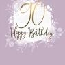 Karnet Swarovski kwadrat Urodziny 90