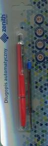 Długopis automatyczny Zenith 7 + wkład oprawa czerwona