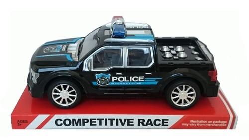 Auto policyjne 24cm czarne