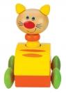 Piszczący Samochodzik Kot żółty