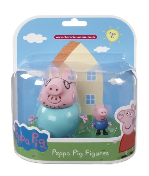 Świnka Peppa zestaw 2 figurek Tata Świnka i George