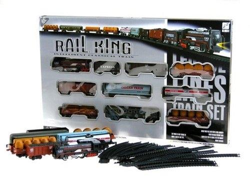 Kolejka elektryczna Rail King 9 wagonów
