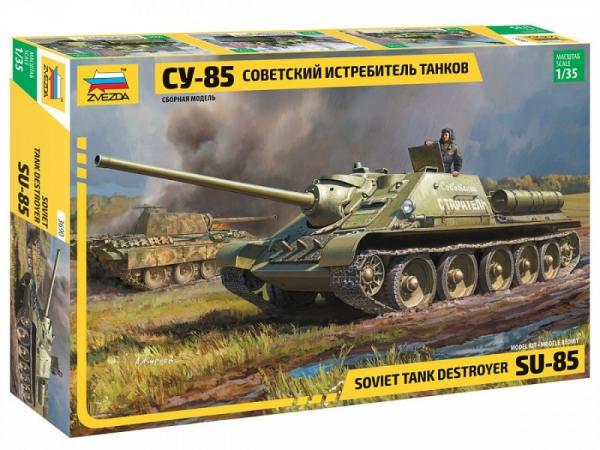 Model plastikowy Radziecki czołg samobieżny SU-85 (3690)