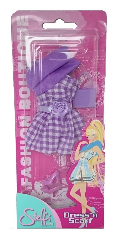 Steffi Modna sukienka z fioletowym szalem