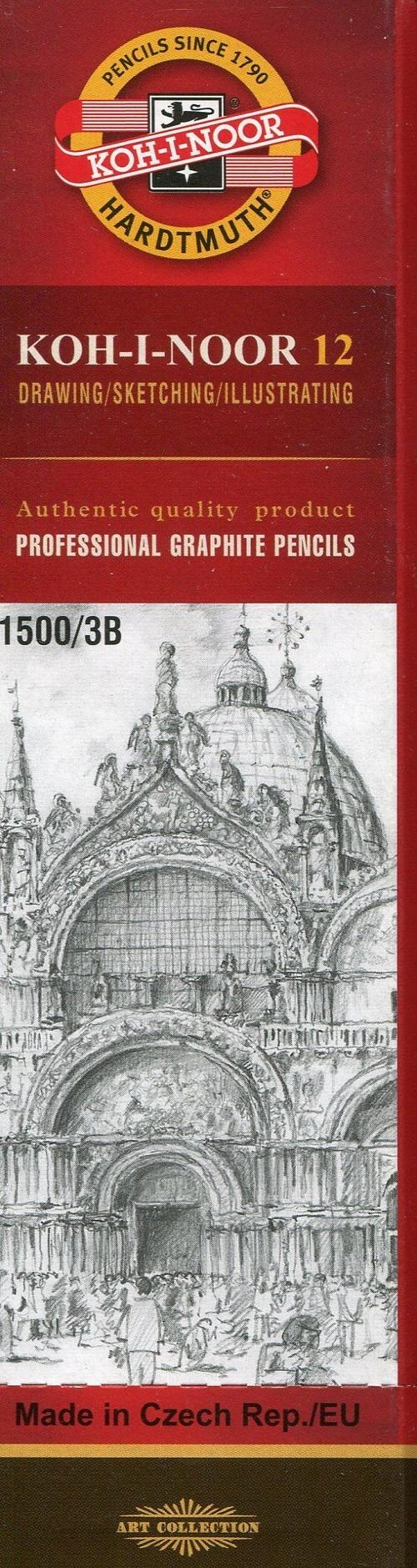Ołówek grafitowy 12 sztuk 1500/3B