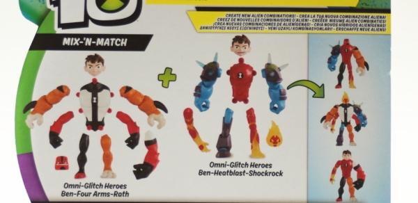 Ben 10: Figurka podstawowa 13 cm seria 8 - Mix 'N Match Omni-Glitch Heroes Ben 10 - Czteroręki - Gniew (BEN43100)
