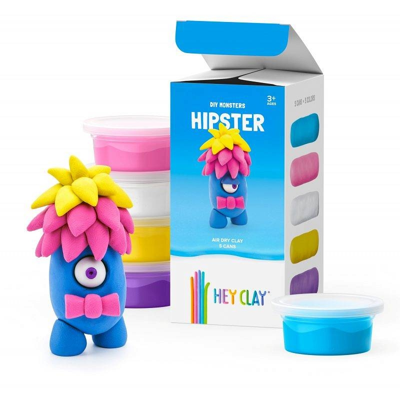 Hey Clay: masa plastyczna - potwór Hipster (HCLMM002PCS)