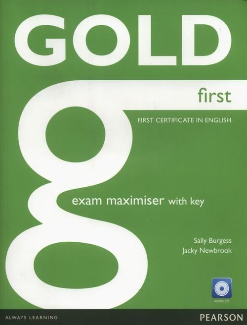 Gold First Exam Maximiser with key + CD Burgess Sally, Newbrook Jacky