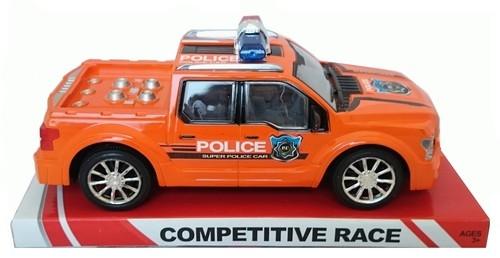 Auto policyjne 24cm pomarańczowe