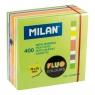 Karteczki samoprzylepne MILAN FLUO kostka, 76 x 76 mm, mix 5 kolorów, 400k.