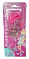 Steffi Modna sukienka z różowym szalem