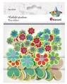 Naklejki piankowe kwiatki, motyle mix 69szt