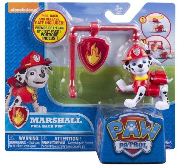 Psi Patrol, figurka z odznaką Marshall (6022626)