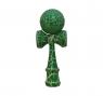 Kendama. Drewniana zabawka zręcznościowa - zielono-biały (NO-1004003)