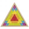Trójkątne puzzle mozaika - kolory tęczowe