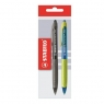 Długopis Stabilo Performer niebieski + czarny 2 sztuki E-20790
