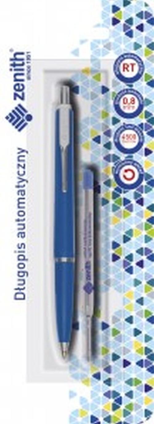 Długopis automatyczny Zenith 7 + wkład oprawa niebieska