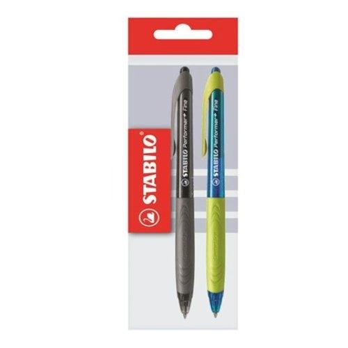 Długopis Stabilo Performer niebieski + czarny 2 sztuki