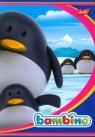 Zeszyt Bambino w kratkę 16 stron A5 pingwiny