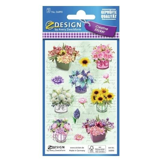 Naklejki kreatywne Z Design - Kwiaty, bukiety (56890)