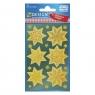 Naklejki bożonarodzeniowe Z Design - Złote gwiazdy (52808)