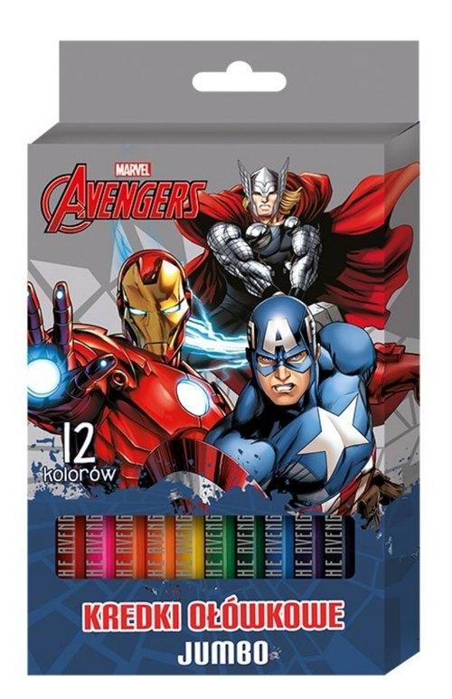 Kredki ołówkowe jumbo 12 kolorów Avengers