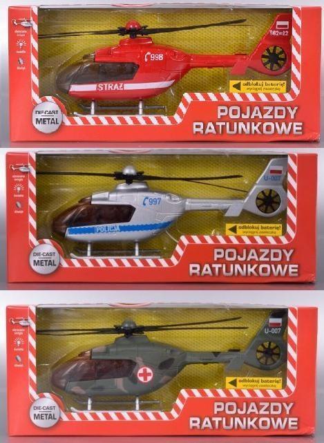 Pojazdy Ratunkowe - Helikopter, różne rodzaje