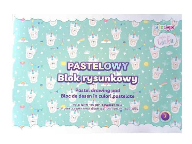 Blok rysunkowy A4/14k, pastelowy - Hejka tu Lenka (SPA037)
