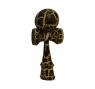 Kendama. Drewniana zabawka zręcznościowa - czarno-żółty (NO-1004003)