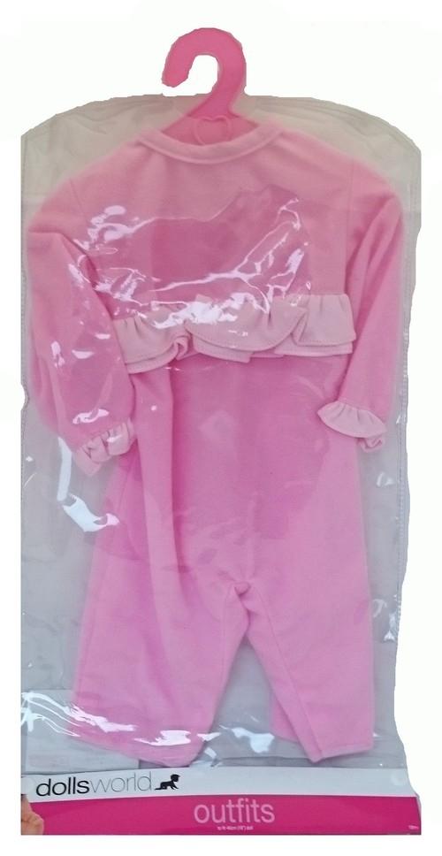 Ubranko deluxe różowe falbanki mix