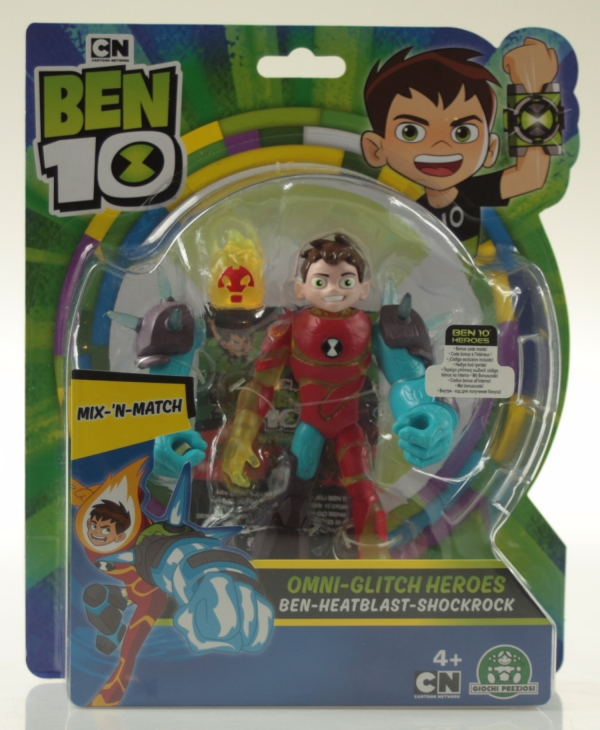 Ben 10: Figurka podstawowa 13 cm seria 8 - Mix 'N Match Omni-glitch Heroes Ben 10 - Inferno - Skalniak (BEN43100)