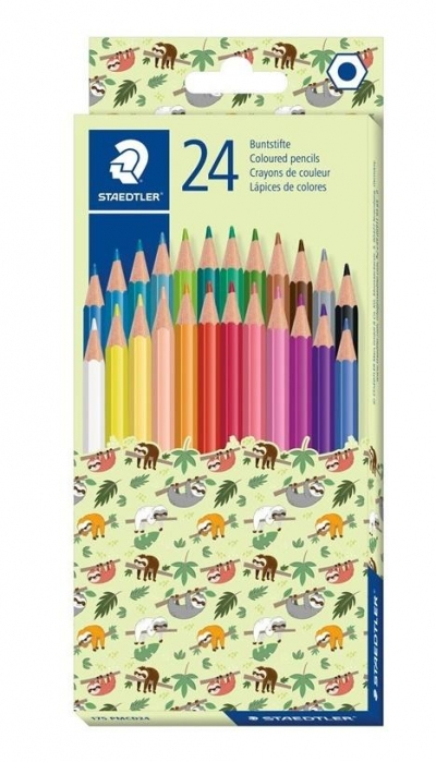 Kredki sześciokątne Pattern 24 kolory STAEDTLER