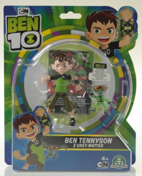 Ben 10: Figurka podstawowa 13 cm seria 7 - Ben 10 + Szara Materia (BEN39610)